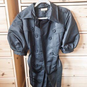 SoCa by St. John Black Balloon Short Sleeve Jacket